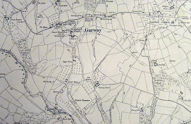 Garway 1905 Map