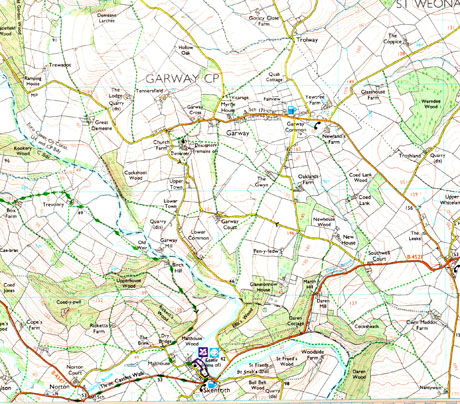 Courtesy of Ordnance Survey Garway-25000-os-map1